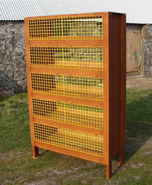 My latest design quail cage. This one is a 5 tier cage.